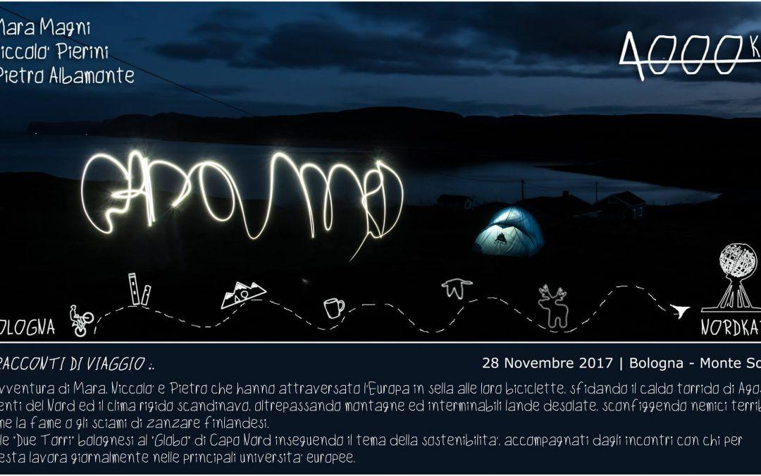 Martedì 28 novembre 2017 – Dalle due Torri a Capo Nord – Racconti di viaggio