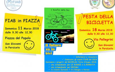 Domenica 11 marzo – Fiab Terre d'Acqua in piazza