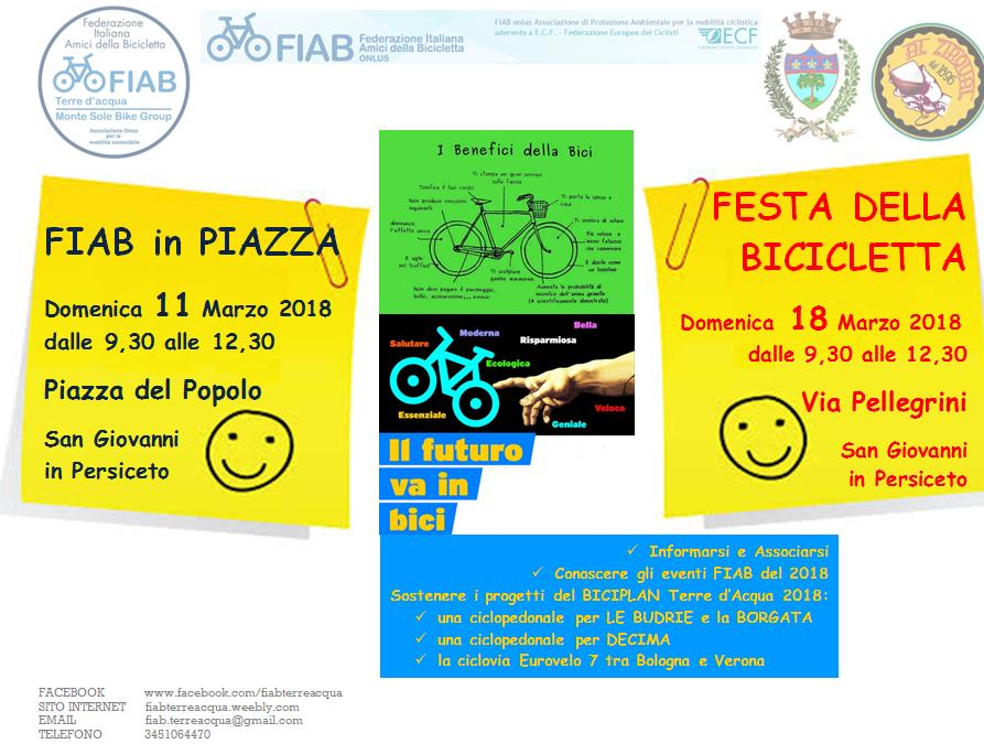 Domenica 18 marzo – Festa della bicicletta a San Giovanni