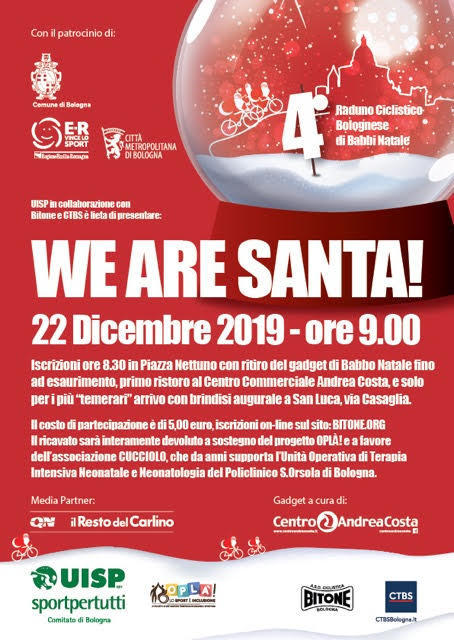 Domenica 22 dicembre – We are Santa!