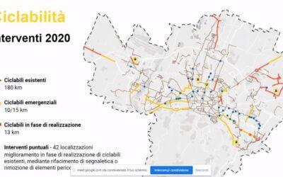 Piano delle ciclabilità d'emergenza Covid del Comune di Bologna
