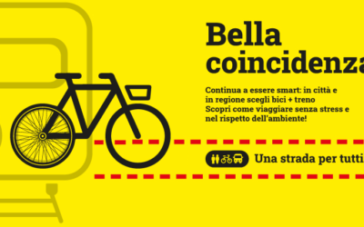 Bella coincidenza: una campagna per l'intermodalità bici + treno in regione